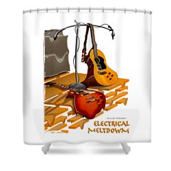 Electrical Meltdown Se Shower Curtain by Mike McGlothlen