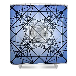 Electrical Symmetry Shower Curtain