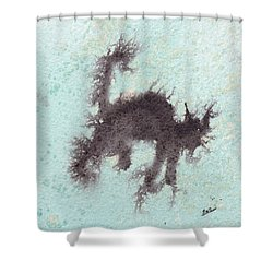 Shower Curtain featuring the painting Electricat by Marc Philippe Joly