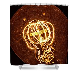 Shower Curtain featuring the photograph Electricity Through Tungsten by T Brian Jones