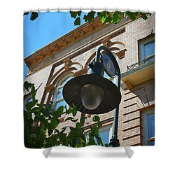 Shower Curtain featuring the photograph Electrifying  Architecture by Skip Willits