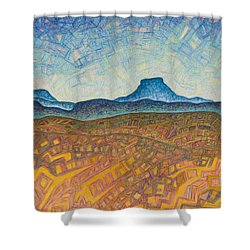 Electromagnetic Observation Shower Curtain by Dale Beckman