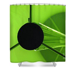 Electromagnetic Radiation Shower Curtain by Charles Dobbs
