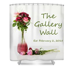 Shower Curtain featuring the photograph Elegance-the Gallery Wall Logo by Wendy Wilton