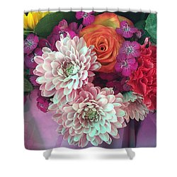 Elegant And Romantic Shower Curtain by Peggy Stokes