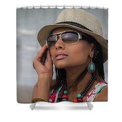 Elegant Beach Fashion Shower Curtain