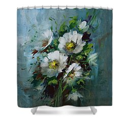 Elegant Blossoms Shower Curtain by David Jansen