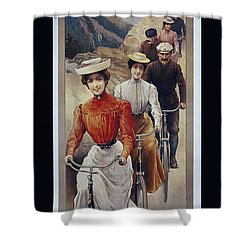 Elegant Fongers Vintage Stylish Cycle Poster Shower Curtain