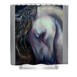 Shower Curtain featuring the painting Elegant Lady by Thomas Lupari