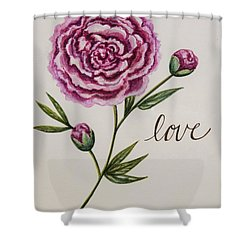Elegant Love Shower Curtain by Elizabeth Robinette Tyndall