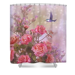 Elegant Roses-2 Shower Curtain