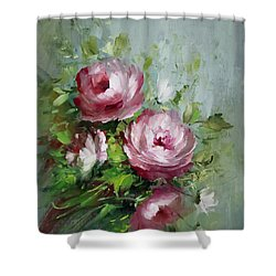 Elegant Roses Shower Curtain by David Jansen