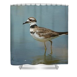 Elegant Wader Shower Curtain by Fraida Gutovich