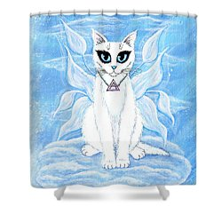 Elemental Air Fairy Cat Shower Curtain