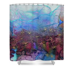 Shower Curtain featuring the painting Elemental by Mary Sullivan