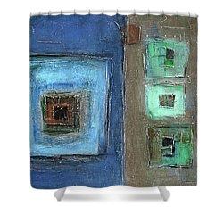 Elements Shower Curtain by Behzad Sohrabi
