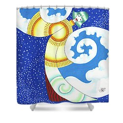 Elements In Harmony Shower Curtain by Robert Ball