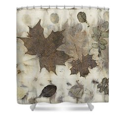 Elements Of Autumn Shower Curtain by Carolyn Doe