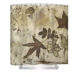 elements of autumn II Shower Curtain by Carolyn Doe