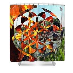 Shower Curtain featuring the digital art Elements Of Life by Derek Gedney