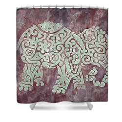 Elephant - Animal Series Shower Curtain by Jennifer Kelly