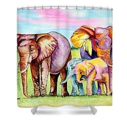 Elephant Aura Shower Curtain