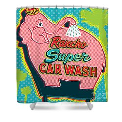Elephant Car Wash - Rancho Mirage - Palm Springs Shower Curtain