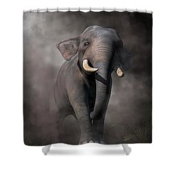 Shower Curtain featuring the digital art Elephant by Daniel Eskridge