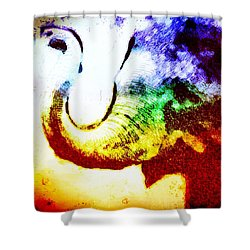 Elephant Energy Shower Curtain