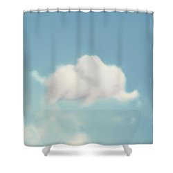Shower Curtain featuring the photograph Elephant In The Sky - Square Format by Amy Tyler