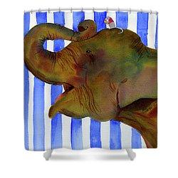 Elephant Joy Shower Curtain