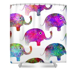 Elephant Parade - Children Pattern Shower Curtain