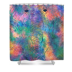 Shower Curtain featuring the painting Elephant Spirit by Denise Tomasura