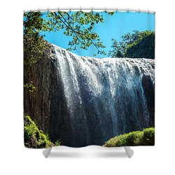 Elephant Waterfall Shower Curtain