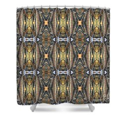 Elephant With Branch Pattern 1 Shower Curtain