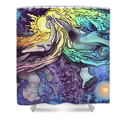 Elephants In Space Shower Curtain