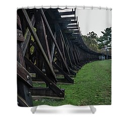 Harpers Ferry Elevated Railroad Shower Curtain