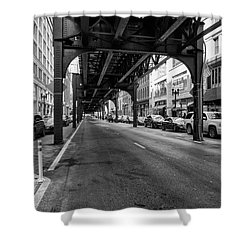 Elevated Train Track The Loop In Chicago, Il Shower Curtain