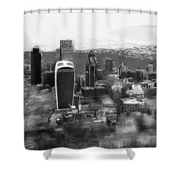 Elevated View Of London Shower Curtain