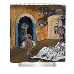 Eleven Minutes After Midnight Shower Curtain by Claudia Goodell