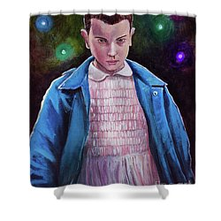 Eleven Shower Curtain by Tom Carlton