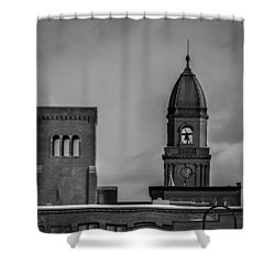 Eleven Twenty Says The Clock In The Tower Shower Curtain by Bob Orsillo
