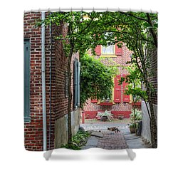 Calico Alley  Shower Curtain