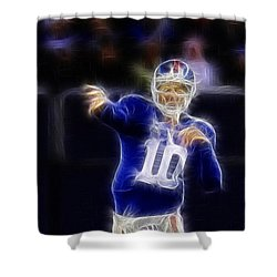 Eli Manning Shower Curtain by Paul Ward