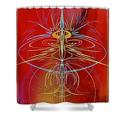 Elijah's Whirl Wind  Shower Curtain