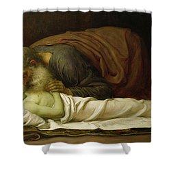 Elisha Raising The Son Of The Shunamite Shower Curtain by Frederic Leighton