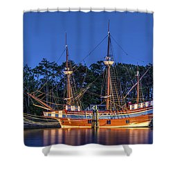 Elizabeth II At Dock Shower Curtain