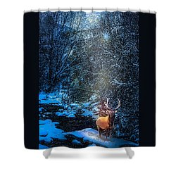 Elk Creek Shower Curtain by J Griff Griffin