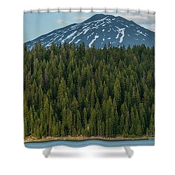 Elk Lake Sailing  Shower Curtain