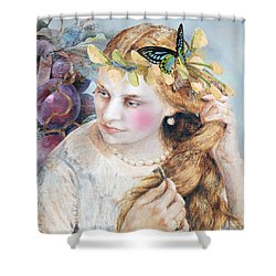 Elka Shower Curtain by Laura Botsford